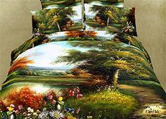 $125    Joybuy Home Textile 3d Forest Bedding Sets 3d Bedding Sets Print Oil Painting Bedding Set Spring Romantic Rustic Duvet Cover Queen 4Pcs JOYBUY Bedding Sets http://www.amazon.com/dp/B00LR84BUO/ref=cm_sw_r_pi_dp_22Hwvb010KXPR