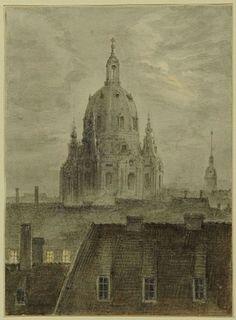 Carl Gustav Carus, Die Frauenkirche in Dresden (1824)