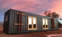 A tiny home owner and California-based designer combined their expertise and experience to design and build a stylish 40-foot long container home. The resulting structure is a 320-square-foot oasis for those who value both mobility and good design, and it is packed to the gills with every amenity you could possibly need.