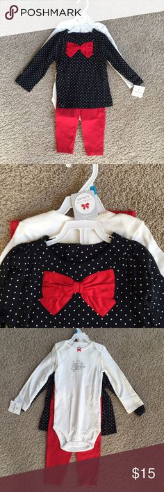 Carter's 3 Piece Set Brand new with tags. Perfect for Christmastime. Carter's Matching Sets