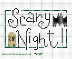 Romy's Cross Stitch Patterns: halloween