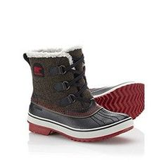 SOREL | Women's Tivoli™ Herringbone Boot Just picked up yesterday - so warm and love the grips on the bottom! (The bit of red and the herringbone is just icing on the cake).