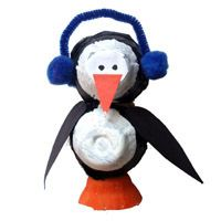 Eierkarton-Pinguin