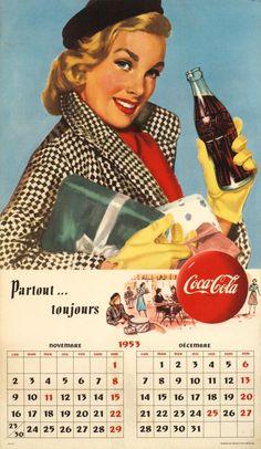 Coca-Cola calendar, 1953