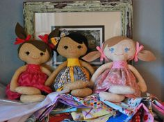 Embroidered Eyes for your doll by BelindasGarden on Etsy, $5.00