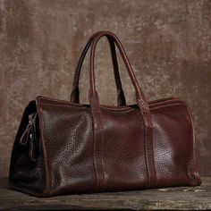 Top Grain Leather Travel Bags, Handbag, Vintage Men's Barrack Bag, Sho – EchoPurse