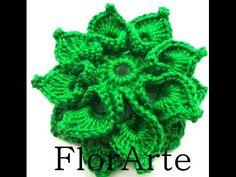 How to Crochet the Spiral Crochet Flower Left Handed - YouTube