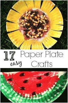 Paper plate crafts for Kids - quick and easy boredom busting ideas for kids to do at home or in the classroom using paper plates.