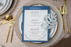 Blue & white coastal wedding invitations | Vanessa Hicks Photography | see more at http://fabyoubliss.com