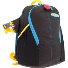 This Keen Kid's Grasshopper backpack features a kid-size backseat. Awesome on hikes when you need to stop to picnic. Roll out the seat, relax.