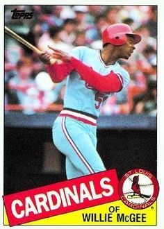 1985 Topps #757 Willie McGee - St. Louis Cardinals (Baseball Cards) by Topps. $0.01. Listing is for (1) One Single MLB Baseball Trading Card. Card Condidtion is Near Mint (NM) or Better, unless otherwise stated. Any Questions or Better Image Needed - Please Ask the Seller. 100,000s of Sports Cards Listed Here. Most Cards Shipped in Soft Sleeve and/or Top Load (See Shipping). 1985 Topps #757 Willie McGee - St. Louis Cardinals (Baseball Cards)