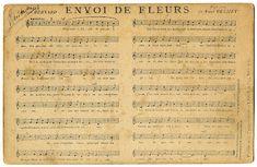 antique french wrttten sheet music' | French Ephemera - Sheet Music Postcard - The Graphics Fairy