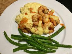 Old Bay Shrimp with Creamy Polenta | Ample Bites