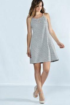 Stripped dress www.exxesfashion.com