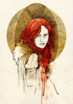 Ygritte - Illustration by Madrid artist Elia Fernandez