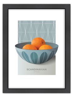 Cathrineholm Oranges by Visual Philosophy (Framed) by Americanflat at Gilt