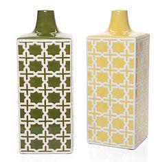 Apple Green Jacquard Vase #zgallerie $25