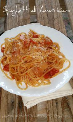 Spaghetti all' Amatriciana, ricetta tradizionale, cucina preDiletta