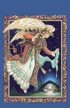 Angel at Nativity via Shaloo's Indian Arts & Handicrafts - Destiny With Angels