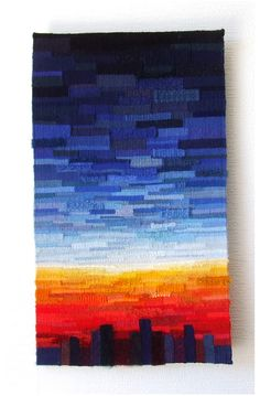 Aube 60 x 40 cm Tapestry Weaving, Tie Dye Skirt, Couture, Colors, Inspiration, Tapestries, Contemporary Tapestries, Dawn, Haute Couture