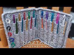 Crochet Hook Case Holder - Written Pattern by Priscilla Hewitt and YouTube Video by Donna Wolfe from Naztazia