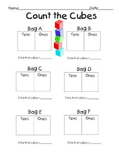 Erica Bohrer's First Grade: Tens and Ones Math Centers