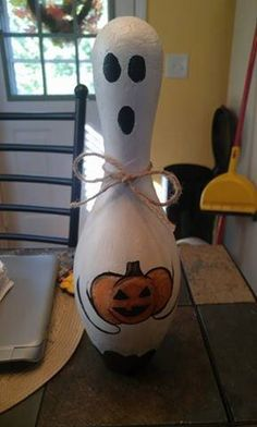 Your place to buy and sell all things handmade Bowling Ball Crafts, Bowling Party, Bowling Pins, Halloween Ornaments, Halloween Ghosts, Halloween Crafts, Halloween Blocks, Halloween Carnival, Halloween Costumes