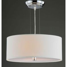 Altea Off-White Shade 3-light Chrome Pendant Chandelier by The Lighting Store