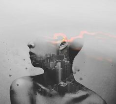 """rough skin; paper thin by Jeen Na, via Flickr. (Not actually double exposed). """"this is something you will never understand""""  is what you said to me."""