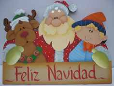 arte country navidad Very Merry Christmas, Christmas Is Coming, Christmas Signs, Christmas Pictures, Christmas Art, Christmas Projects, Book Crafts, Christmas Crafts, Winter Wood Crafts