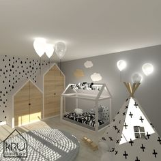 Scope of the project: KRU Design children's room – Decoration ideas Boy Toddler Bedroom, Toddler Rooms, Baby Bedroom, Baby Boy Rooms, Baby Room Decor, Nursery Room, Childrens Room, Country Baby Rooms, Kids Bedroom Designs