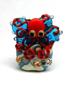 made to order margo lampwork beads octopus by