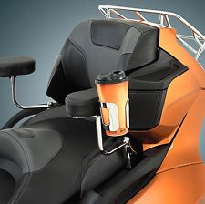 Chrome Passenger Armrest Cup Holder for Can Am Spyder RT, RTS, Limited (52-836)
