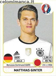 UEFA EURO 2016™ Official Sticker Album: Fronte Figurina n. 245 Matthias Ginter