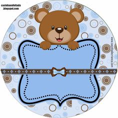 Kit Baby Shower Teddy Brown and Blue Scrapbook Bebe, Baby Boy Scrapbook, Baby Shower Oso, Bear Theme, Baby Shawer, Baby Clip Art, Bear Party, Baby Images, Baby Birthday