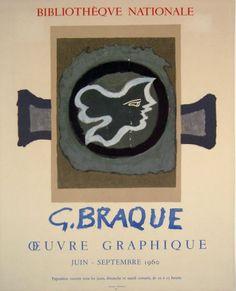 Plakat Georges Braque Affiche Georges Braque Plakat Georges Braque title oeuvre Graphique technology Color lithograph