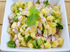 This easy pineapple salsa is perfect for chips, piling onto grilled meats, or even topping salads.
