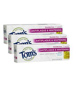 Look what I found on #zulily! Fennel Antiplaque & Whitening Toothpaste - Set of Three by Tom's of Maine #zulilyfinds