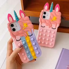 FIDGET - FUNNY UNICORN IPHONE CASE Funny Iphone Cases, Cheap Phone Cases, Pop It Toy, Unicorn Iphone Case, Figet Toys, Kids Play Kitchen, Nails For Kids, Aesthetic Phone Case, Stress Toys