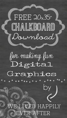 free chalkboard for digital graphics. Chalkboard Fonts, Chalkboard Designs, Web Design, Graphic Design, Type Design, Ever After, Vintage Borders, Chalkboard Background, Clip Art