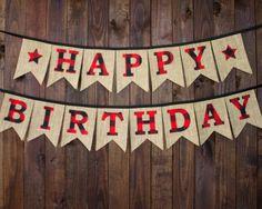 Camping Lumberjack Happy Birthday Party by MsRogersNeighborhood