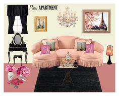"""""""Contest: Paris Apartment"""" by billsacred ❤ liked on Polyvore featuring interior, interiors, interior design, home, home decor, interior decorating, Fay et Fille, La Tour Eiffel, French Country Collections and Home Essentials"""