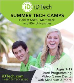 Save on Summer Tech Camps for NH Kids! #NH #STEM w/ @iD Tech
