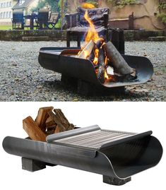 Colder nights have began but no need to rush indoors - one of these 35 metal fire pits could extend your outdoors season with warmth and social fun. firepits designs 35 Metal Fire Pit Designs and Outdoor Setting Ideas Metal Fire Pit, Diy Fire Pit, Fire Pit Backyard, Grill Outdoor, Outdoor Cooking, Fire Pit Grill, Bbq Grill, Fire Pits, Parrilla Exterior