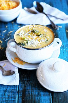 Broccoli Cheese Soup from @Kristen Wogan Doyle - Dine and Dish