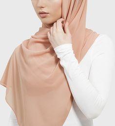 Pink Peach Soft Crepe Hijab - £11.90 : Inayah, Islamic Clothing & Fashion, Abayas, Jilbabs, Hijabs, Jalabiyas & Hijab Pins