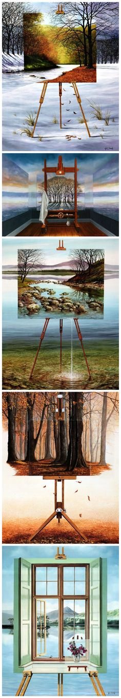 Neil Simone - surreal paintings, art, painting, surrealism, optical illusions