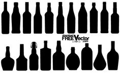 Free Vector Collection Bottle Silhouettes - Free Vector Site | Download Free Vector Art, Graphics