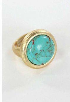 #loveshoppingmiami.com    #ring                     #Aqua #Bead #Ring         Aqua Bead Ring                                      http://www.seapai.com/product.aspx?PID=408757