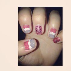 #glitter #nails #design #tape